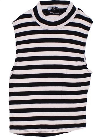 T-shirt sans manches fille NEW LOOK noir 13 ans été #1306240_1