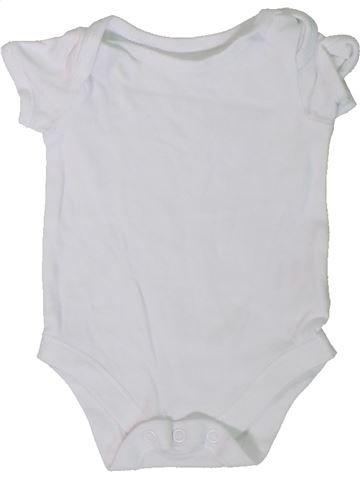 T-shirt manches courtes unisexe JOHN LEWIS blanc 1 mois été #1306288_1
