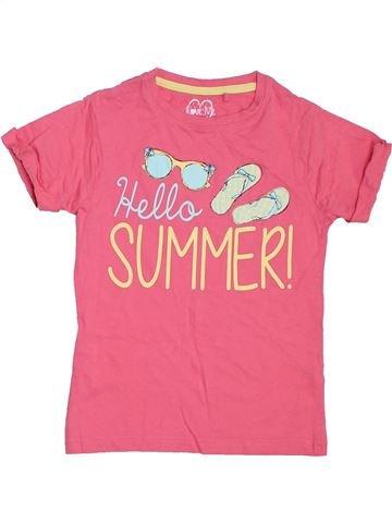 T-shirt manches courtes fille LOVE ME rose 8 ans été #1306346_1