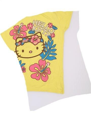 T-shirt manches courtes fille HELLO KITTY jaune 14 ans été #1306382_1
