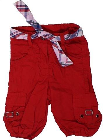 Pantalon fille TOPOLINO rouge 3 mois hiver #1306594_1