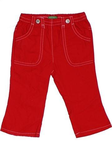 Pantalon garçon BENETTON rouge 9 mois été #1306646_1