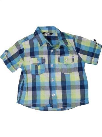 Camisa de manga corta niño GEORGE azul 12 meses verano #1306710_1