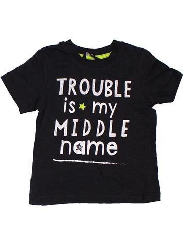 T-shirt manches courtes garçon GEORGE noir 3 ans été #1306750_1
