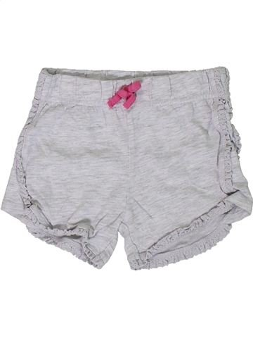 Short-Bermudas niña F&F gris 12 meses verano #1306802_1