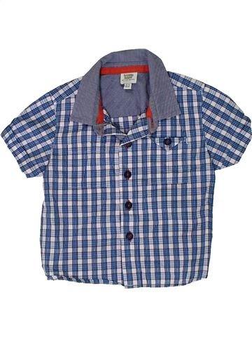 Chemise manches courtes garçon BAKER bleu 9 mois été #1307489_1