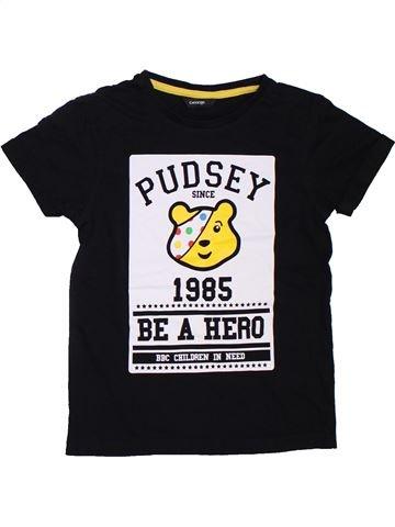 T-shirt manches courtes garçon GEORGE noir 7 ans été #1307652_1