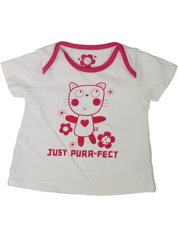 Camiseta de manga corta niña TU blanco 9 meses verano #1307687_1