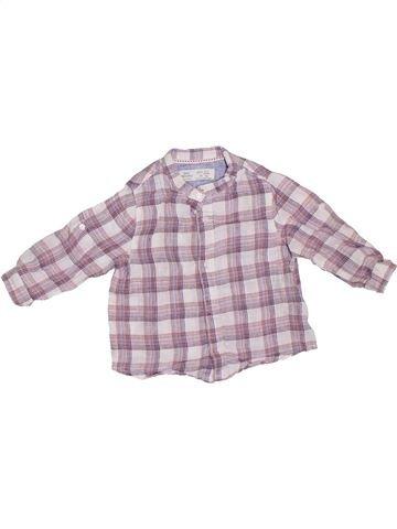 Chemise manches longues garçon ZARA gris 9 mois hiver #1307777_1