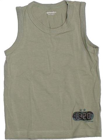 Top - Camiseta de tirantes niño VERTBAUDET beige 4 años verano #1307876_1