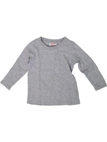 Camiseta de manga larga unisex LA REDOUTE CRÉATION gris 18 meses invierno #1308196_1