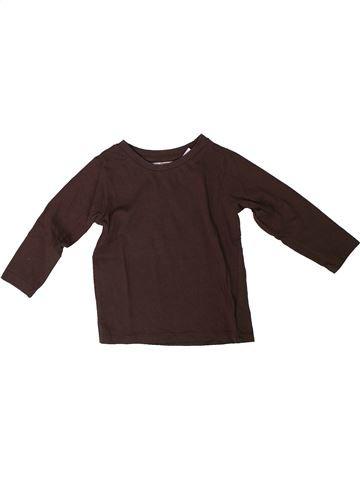 T-shirt manches longues garçon LA REDOUTE CRÉATION marron 18 mois hiver #1308206_1