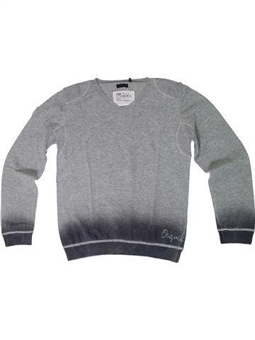 jersey niño IKKS gris 10 años invierno #1308306_1