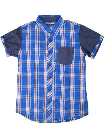 Chemise manches courtes garçon TEDDY SMITH bleu 14 ans été #1308313_1