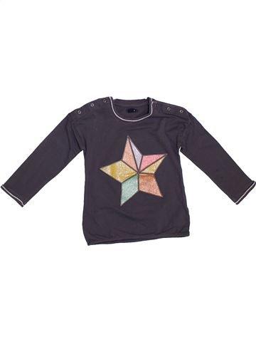 T-shirt manches longues fille KIABI gris 3 ans hiver #1308459_1
