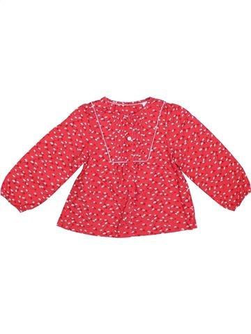 Blusa de manga larga niña OKAIDI rosa 3 años invierno #1308473_1
