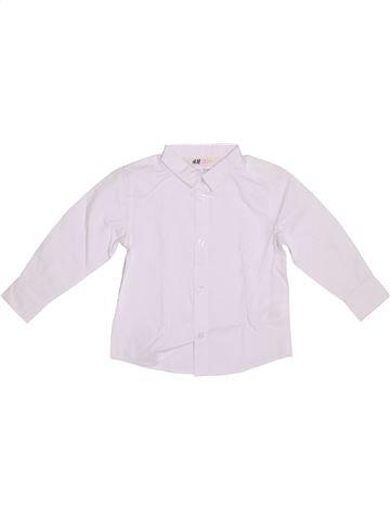 Camisa de manga larga niño H&M blanco 2 años invierno #1308600_1