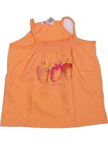 T-shirt sans manches fille OKAIDI orange 3 ans été #1308785_1