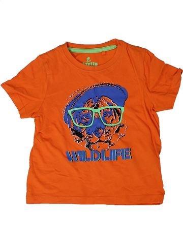Camiseta de manga corta niño LUPILU naranja 4 años verano #1309018_1