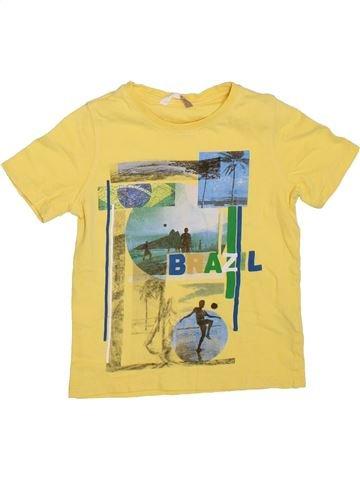 Camiseta de manga corta niño JOHN LEWIS amarillo 5 años verano #1309066_1