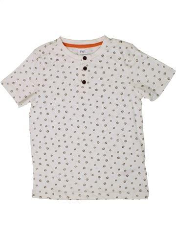 Camiseta de manga corta niño F&F blanco 7 años verano #1309094_1