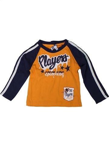 Camiseta de manga larga niño COLOR KIDS naranja 12 meses invierno #1309636_1