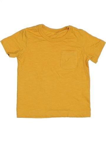 Camiseta de manga corta niño SANS MARQUE amarillo 18 meses verano #1310258_1