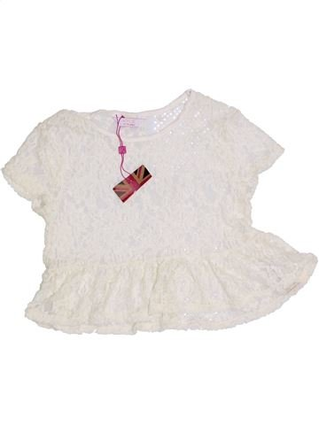 Blusa de manga corta niña KYLIE blanco 10 años verano #1310934_1