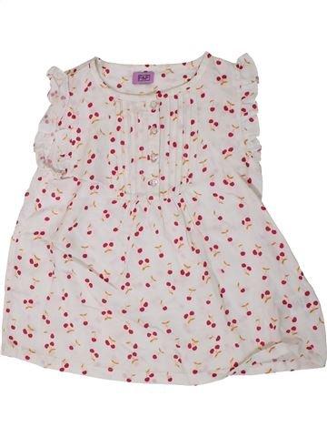 Blusa de manga corta niña F&F blanco 5 años verano #1310945_1
