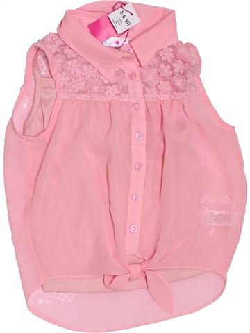 Blusa de manga corta niña M&CO rosa 6 años verano #1311277_1