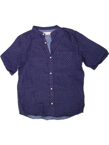 Camisa de manga corta niño ZARA azul 12 años verano #1311365_1