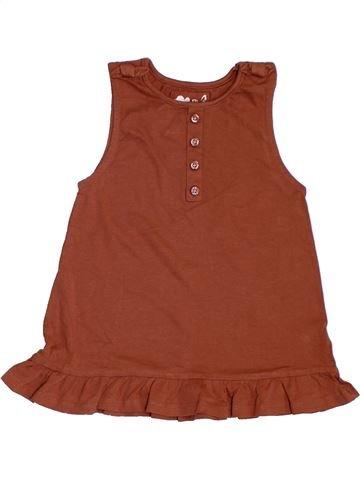 Camiseta sin mangas niña TU marrón 6 años verano #1311421_1
