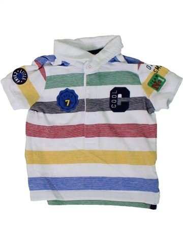 Polo de manga corta niño F&F blanco 3 meses verano #1311498_1