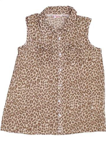 Blusa de manga corta niña MATALAN marrón 11 años verano #1311572_1