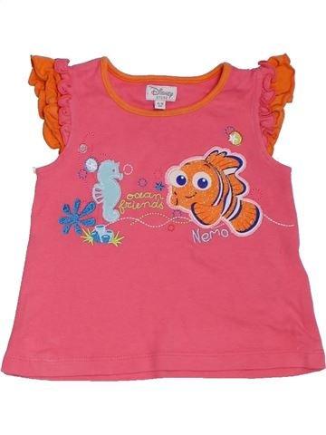 Camiseta de manga corta niña DISNEY rosa 9 meses verano #1311658_1