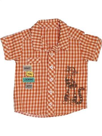 Camisa de manga corta niño GEORGE naranja 9 meses verano #1311864_1