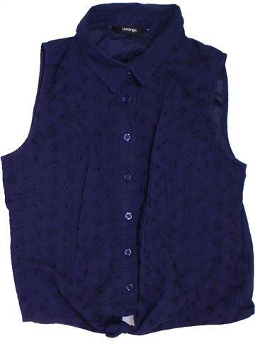 Blusa de manga corta niña GEORGE azul 12 años verano #1311917_1