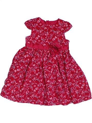 Vestido niña GEORGE rojo 9 meses verano #1311940_1