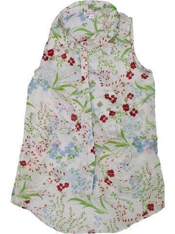 Blusa de manga corta niña MISS E-VIE gris 10 años verano #1312184_1