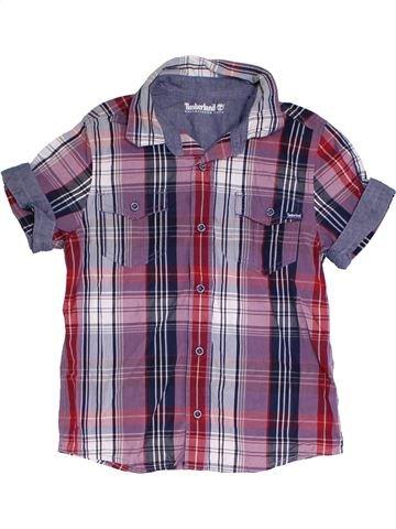 Chemise manches courtes garçon TIMBERLAND violet 10 ans été #1312822_1