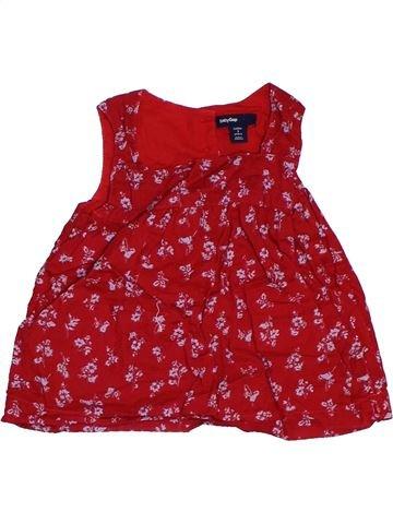 Blouse manches courtes fille GAP rouge 3 ans été #1314373_1