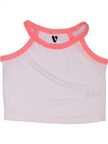T-shirt sans manches fille V BY VERY blanc 6 ans été #1317685_1