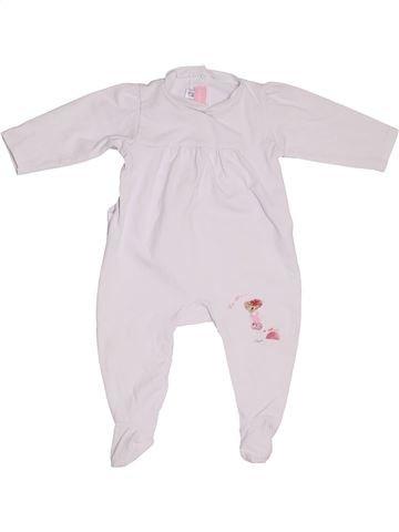 Pyjama 1 pièce fille MARÈSE blanc 6 mois été #1321339_1