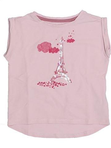 T-shirt manches courtes fille VERTBAUDET rose 3 ans été #1321872_1