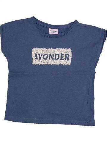 T-shirt manches courtes fille TAPE À L'OEIL bleu 2 ans été #1322958_1
