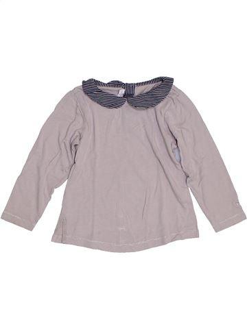 T-shirt manches longues fille CHATEAU DE SABLE gris 3 ans hiver #1323169_1