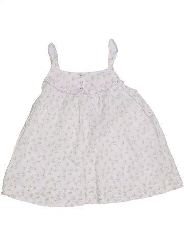 Blusa de manga corta niña CYRILLUS blanco 8 años verano #1323299_1