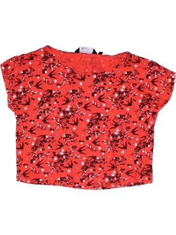 T-shirt manches courtes fille NEW LOOK rouge 13 ans été #1323843_1