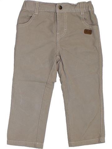 Pantalon garçon VERTBAUDET beige 2 ans été #1324301_1