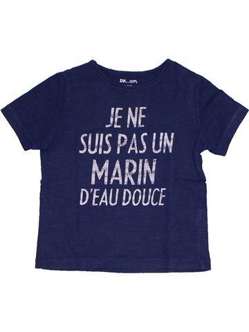 T-shirt manches courtes garçon DPAM bleu 3 ans été #1325684_1